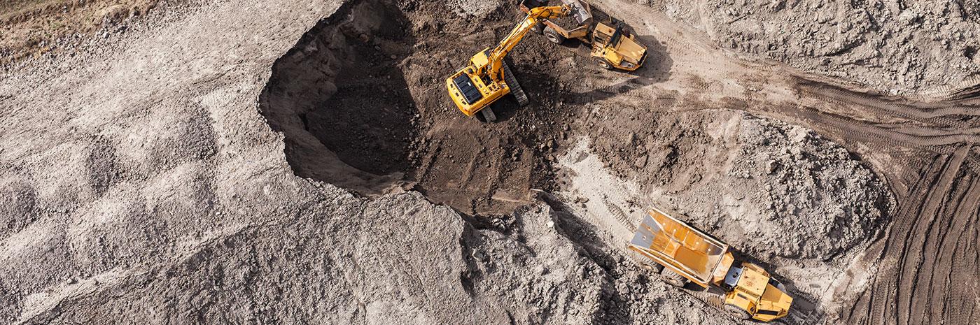 Camion de chantier extraction terre