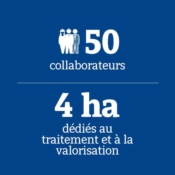 50 collaborateurs_4 ha dédiés au traitement et à la valorisation