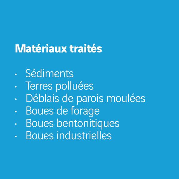 Matériaux traités Extract