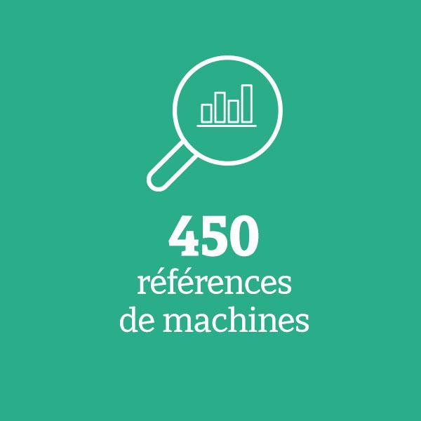 450 références de machines