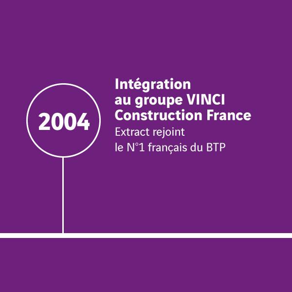 Histoire Extract_Intégration au groupe Vinci 2004